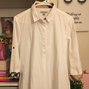 💯✅ Authentic Burberry Polo Dress Shirt